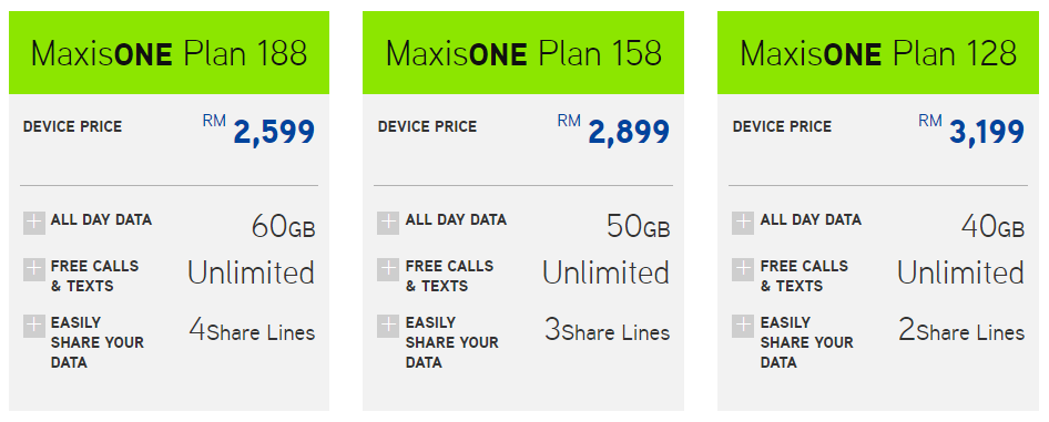 Maxis offers