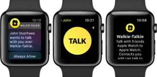 apple watch walkie talkie
